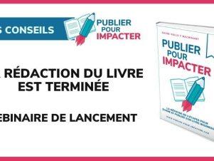 Webinaire de lancement pour la sortie du livre Publier pour Impacter